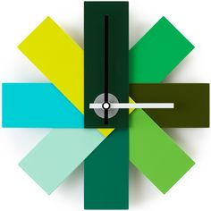 Watch Me Horloge murale vert 28,5 cm, Aluminium, Normann Copenhagen