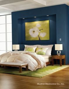 Stay in the comfort of your bed to control the lights and shades throughout your home with Lutron. http://www.lutron.com/en-US/Residential-Commercial-Solutions/Pages/Residential-Solutions/Residential-App/ResidentialApplications.aspx