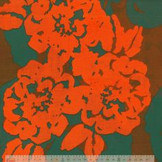 Dressmaking Cotton - Red Green Floral Cotton Lawn - cotton fabric
