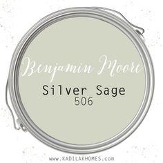 Sage Green Paint, Green Paint Colors, Interior Paint Colors, Paint Colors For Home, Wall Colors, House Colors, Living Room Paint Colors, Best Bathroom Paint Colors, Silver Sage Paint