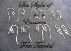 nice DIY Bijoux - Six Styles of Earwires Check more at https://listspirit.com/diy-bijoux-six-styles-of-earwires/