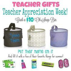 Teacher Appreciation Week gifts by Thirty-One. Very affordable and cute! Mythirtyone.com/dianadelarosa