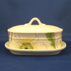 Matilija (White Poppy), by Metlox, Covered Butter Dish