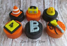 Fondant topped chocolate covered Oreos by lovesugarkisses on Etsy, $35.00