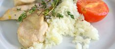 Pollo al limón con arroz jazmín