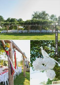 backyard wedding ideas | VIA #WEDDINGPINS.NET