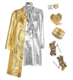 """Silver & Gold"" by sistagirll on Polyvore featuring Dsquared2, Yves Saint Laurent, BKE and Miu Miu"