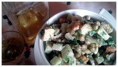 Dinner: ensalada rusa con mayonesa de lino