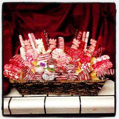 Beautiful Valentines day basket full of homemade goodies