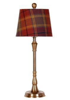 plaid lampshade!