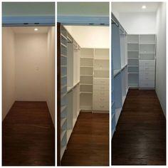 #Narrow #WalkIn #Closet #White #Custom #StorageSolutions