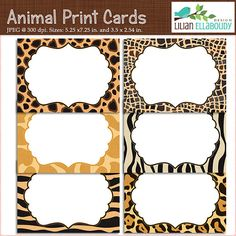 60% OFF SALE Editable PDF animal print by LilianEllaboudyDesgn