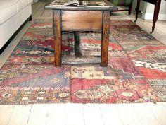 Love to have this kelim patchwork carpet!