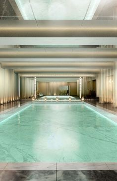 Indoor swiming pool  Baccarat Hotel and Residences New York vossy.com