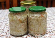 Výborný kapustový šalát nesterilizovaný Preserves, Harvest, Mason Jars, Recipies, Ale, Goodies, Veggies, Smoothie, Canning