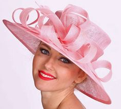 Pretty in Pink...Pale Pink Derby Picture Hat by HAT-A-TUDE