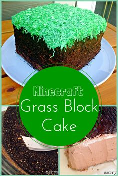 Want a cute Minecraft cake but not sure you can do it? Make a Minecraft Grass Block Cake with this easy tutorial.