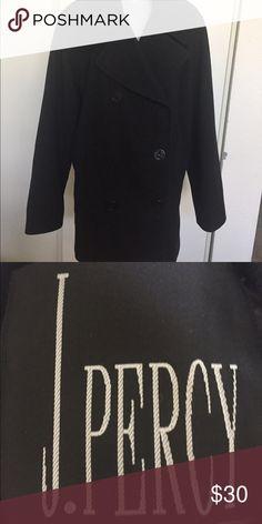 c930dacee7c Pea Coat Pea Coat Black great condition J Percy Jackets   Coats Pea Coats  Pea Coat