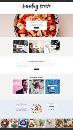 Blog Design, Web Design Inspiration, Design Ideas, Minimal Web Design, Graphic Design, Site Vitrine, Free Website Templates, Premium Wordpress Themes, Design Development