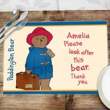 Personalised Childrens Placemats - Just The Right Gift - UK Seller Personalized Christmas Gifts, Christmas Gifts For Kids, Personalised Placemats, Christmas Stocking Fillers, Paddington Bear, Special Gifts, Birthday Gifts, Cards, Lasting Memories