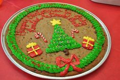 A Christmas cookie cake is easy to get any time of the year - just ask!