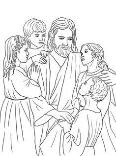 Jesús ama a todos los niños del mundo Dibujo para colorear