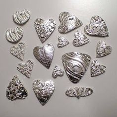 Posts about Teaching Metal Clay written by C Scheftic Metal Clay Jewelry, Polymer Clay Jewelry, Silver Jewelry, Swarovski, Precious Metal Clay, Clay Ornaments, Clay Design, Clay Beads, Metal Stamping