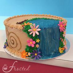 Moana Cake Moana Birthday Party Theme, Moana Themed Party, Luau Birthday, Birthday Cake Girls, Moana Theme Cake, Moana Cake Ideas, Moanna Cake, Cupcake Cakes, Cupcakes