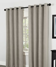 Another great find on #zulily! Pewter Villamora Blackout Grommet Curtain Panels - Set of Two #zulilyfinds