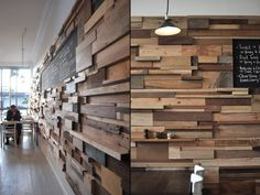 reclaimed wood feature wall - Google Search