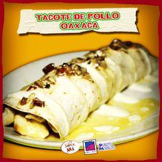 Delicioso tacote de pollo, champiñones y queso, hay más variedades.  Disfrútalo en Sabor a Mí, Augusto Figueroa 41 www.lapanzaesprimero.com