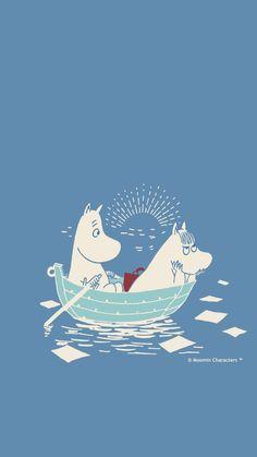 Cartoon Wallpaper, Moomin Wallpaper, Iphone Wallpaper, Cartoon Pics, Cute Cartoon, Moomin Valley, Winter Illustration, Tove Jansson, Vintage Comics