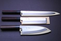 Yoshihiro cutlery quite rightly boast that they manufacturer the ultimate Japanese kitchen knives. The company has a fantastic reputation and is Japanese Kitchen Knives, Best Kitchen Knives, Japanese Chef, Japanese Sushi, Cool Knives, Knives And Tools, Sashimi, Chefs, Kitchen Knife Sharpening