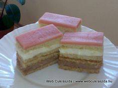 Hungarian Recipes, Hungarian Food, Vanilla Cake, Cheesecake, Food And Drink, Sweet, Desserts, Holland, Dutch