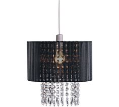 Buy Collection Grazia Voile Droplets Shade - Black at Argos.co.uk, visit Argos.co.uk to shop online for Lamp shades, Lighting, Home and garden
