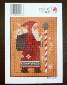 The Prairie Schooler Cross Stitch Pattern - 1996 Santa