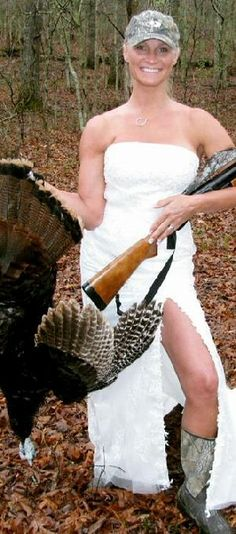 redneck wedding dress well at lest you know dinner is always ready