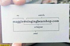 Znalezione Obrazy Dla Zapytania Business Card Instagram Marketing Business Card Business Cards Creative Funny Business Cards