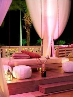 Set up an outdoor area with heaters, blankets, cushions and shisha!