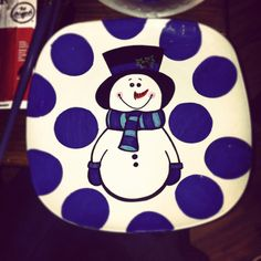 Painted plate  $25 with stand.  SOLD. Can make more.
