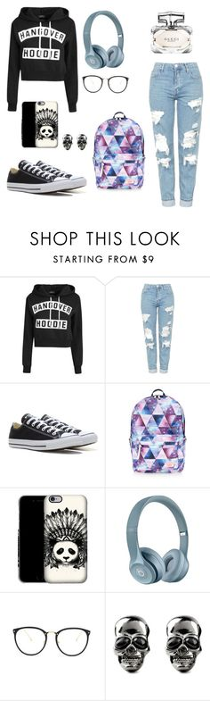 """Lo mejor para clase"" by biancagramaje on Polyvore featuring Topshop, Converse, Accessorize, Linda Farrow and Gucci"