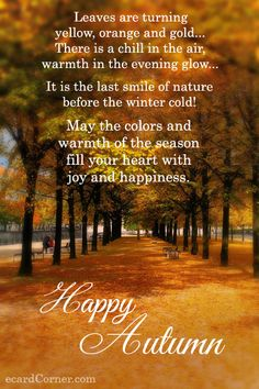 Autumn Ecard For Your Friends #greetings