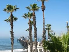 oceanside Pier , just outside of San Diego , right next to Camp Pendleton.