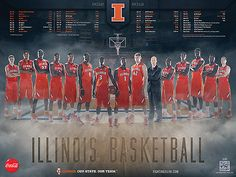 Illini Basketball: 2012-2013 Illini Basketball Poster - IllinoisLoyalty.com