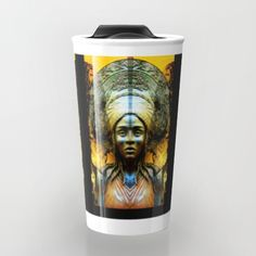 """15% Off + Free Shipping Today! Take your coffee to go with a personalized ceramic travel mug.  Double-walled with a press-in suction lid, the two-piece (12oz) design ensures long lasting temperatures while minimizing the risk of spillage from kitchen to car to office. Standing at just over 6"""" tall with wrap around artwork, safely sip hot or cold beverages from this one of a kind mug."""