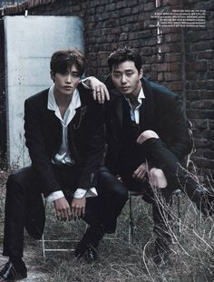 "The two lead actors of the upcoming drama ""Hwarang"" shared a pictorial for the December issue of Vogue and we are ALL IN. Park Seo Joon and Park Hyung Sik look amazing in these photos a… Park Hyung Sik Hwarang, Park Hyung Shik, Joon Hyung, Korean Star, Korean Men, Asian Men, Asian Actors, Korean Actors, Taehyung Hwarang"