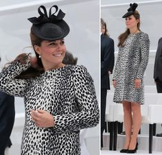 Kate Middleton usa vestido amplo de animal print para evento na Inglaterra. (Foto: Getty Images)