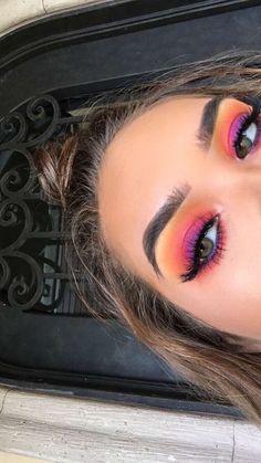 Make Up - Colorful Makeup # EyeMakeup Tips # Halloween Face Makeup . - Make Up – Colorful Make Up makeup - Glam Makeup, Cute Makeup, Pretty Makeup, Makeup Inspo, Makeup Inspiration, Makeup Ideas, Makeup Hacks, Makeup Routine, Makeup Trends