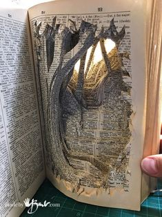 DIY Paper-Cut Tunnel Book : 11 Steps (with Pictures) - Instructables Folded Book Art, Paper Book, Diy Paper, Paper Art, Paper Crafts, Cut Out Art, Art Cut, Old Book Crafts, Tunnel Book