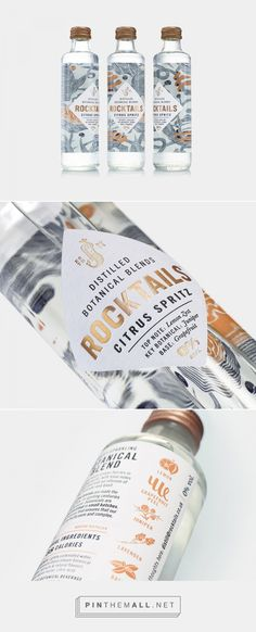 ROCKTAILS is the New Fizzy Beverage With Nature-Inspired Packaging — The Dieline | Packaging & Branding Design & Innovation News - created via https://pinthemall.net